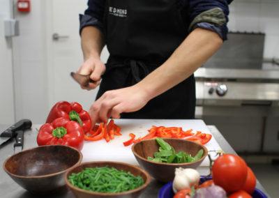 Légumes cuisinés sur place