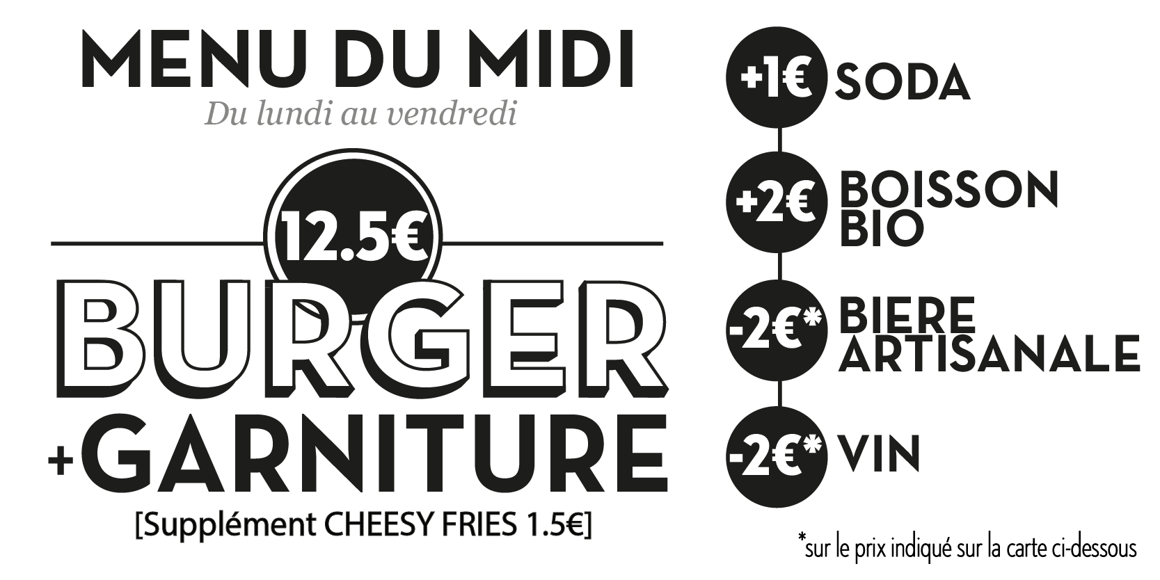 Menu du midi Edmond Pure Burger